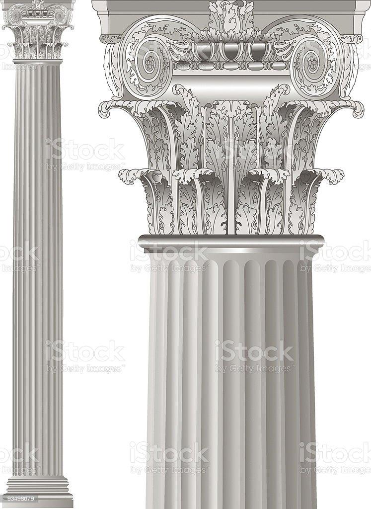 classic column royalty-free stock vector art