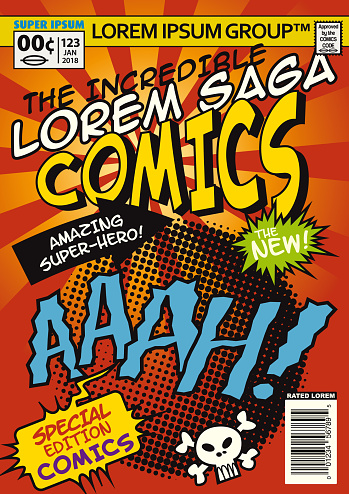 Classic Comic Cartoon Cover