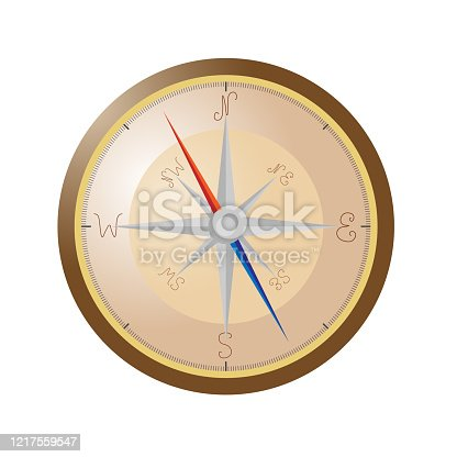 classic compass with all directions of the world. Vector illustration.