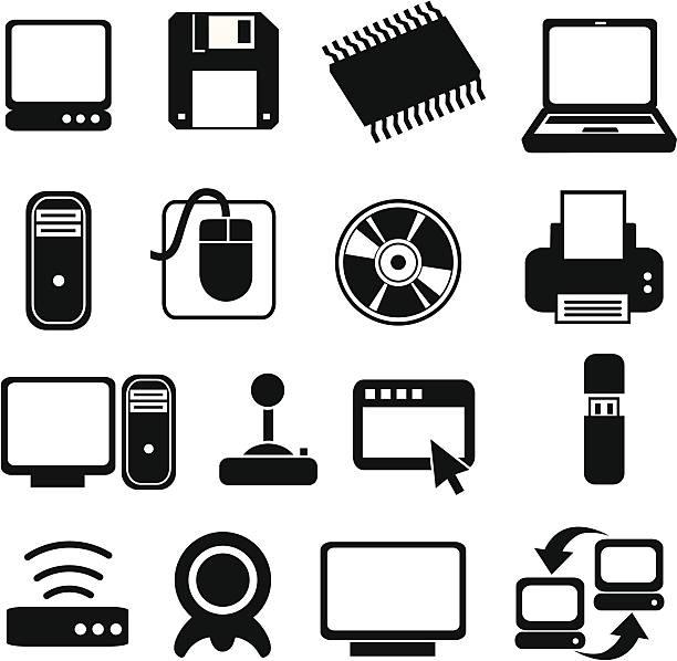 klassische computersysteme symbole - mauspad stock-grafiken, -clipart, -cartoons und -symbole