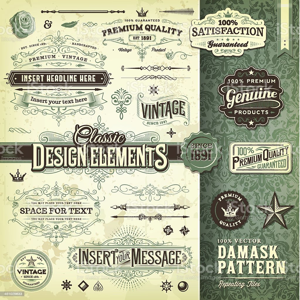 Classic Design Elements Toolkit vector art illustration