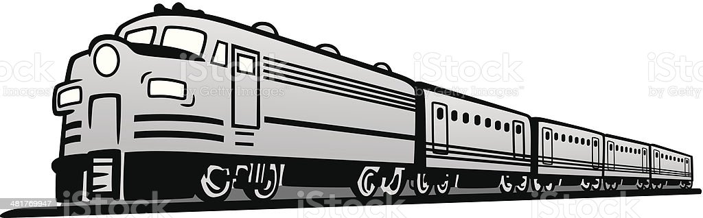 Classic Diesel Train royalty-free classic diesel train stock vector art & more images of classical style
