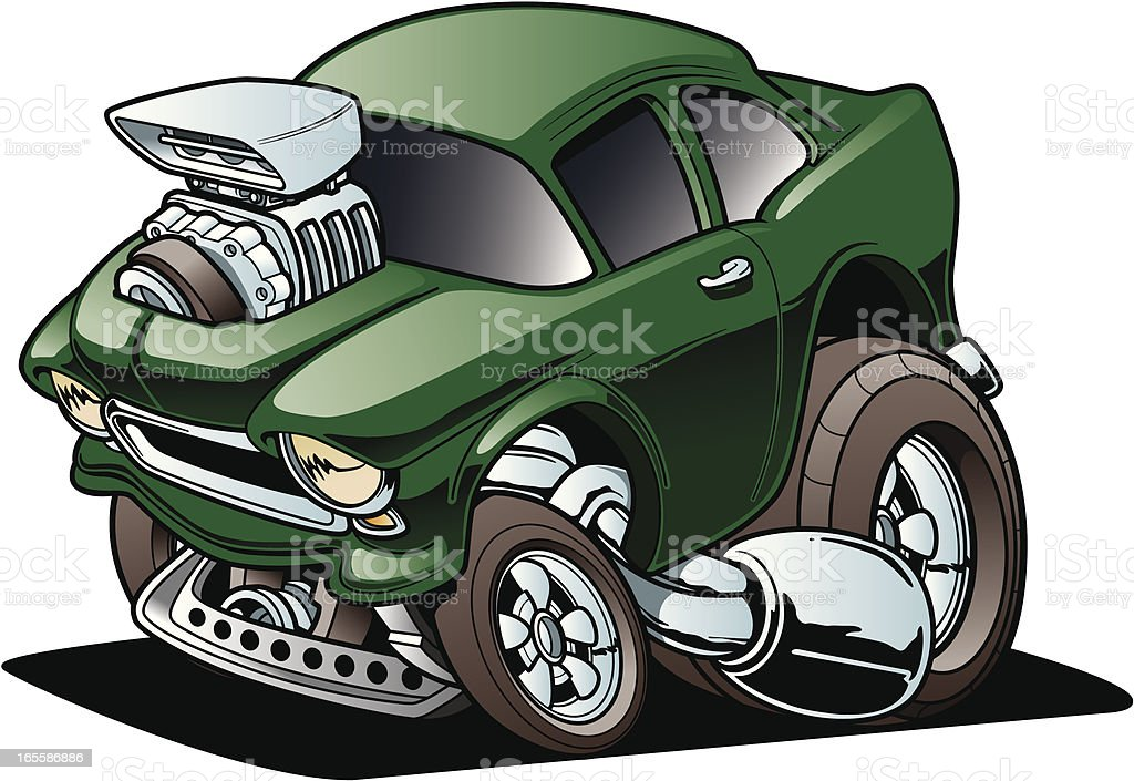 Classic Drag Racer - Royalty-free Car stock vector
