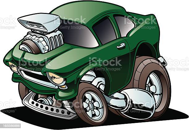 Classic Drag Racer Stock Illustration - Download Image Now