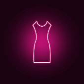 Highheelschuhesymbol Elemente Der Kleidung In Neonstilikonen