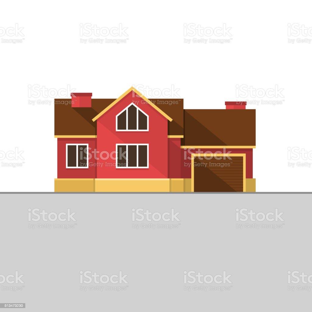 Klassische Englische Haus Fassade Rot Backstein Hause Vektor
