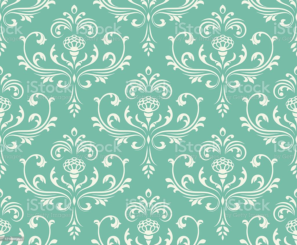 Classic floral seamless ornate background. royalty-free stock vector art