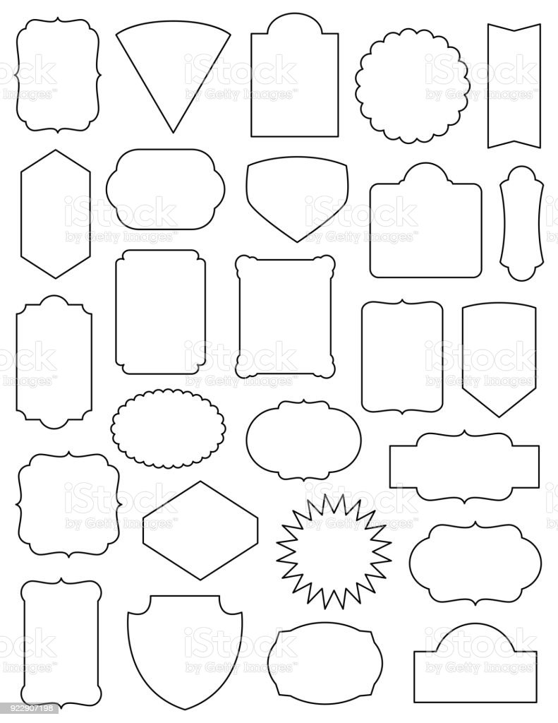 Classic Frames Set vector art illustration
