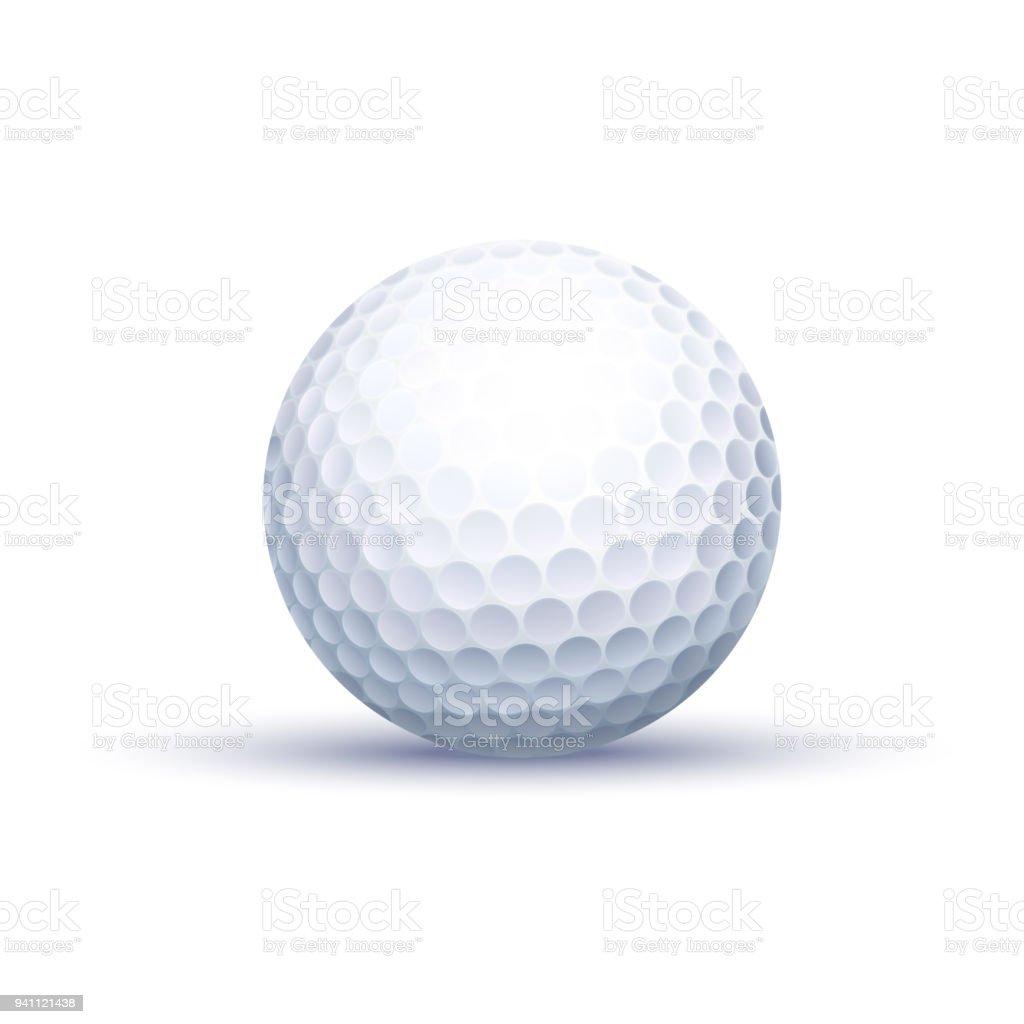 Bola de golfe clássico - ilustração de arte em vetor