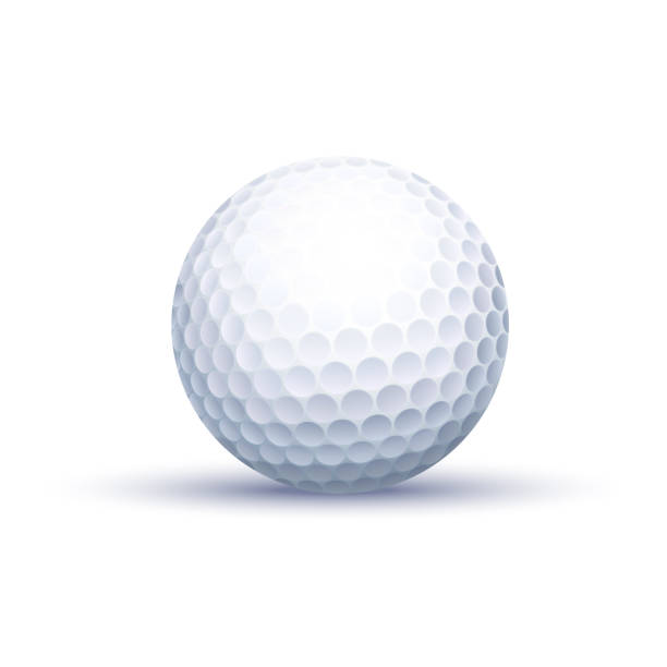 Classic Golf Ball Vector Photo Realistic Isolated Classic Golf Ball golf ball stock illustrations