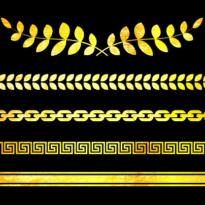 classic Greek borders and decorations on royalty free vector Background
