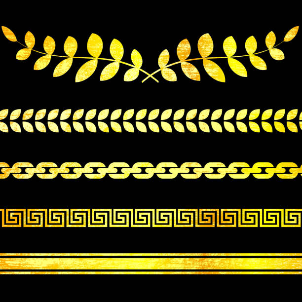 classic Greek borders and decorations on royalty free vector Background http://www.belyj.com/i/wh.jpg pattern stock illustrations