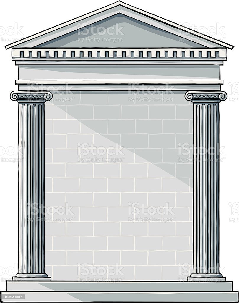 Classic Greek Building royalty-free classic greek building stock vector art & more images of antiquities