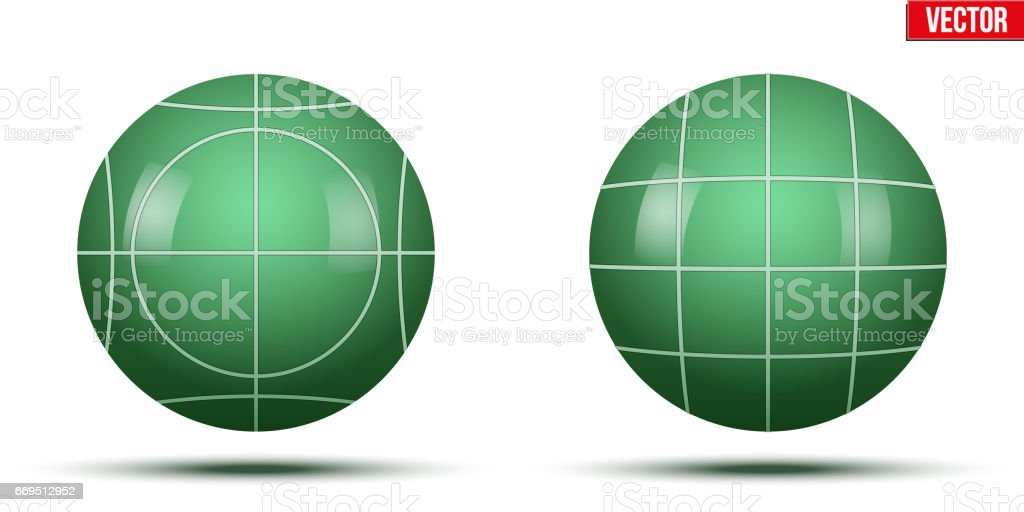 Classic Green Bocce Balls vector art illustration
