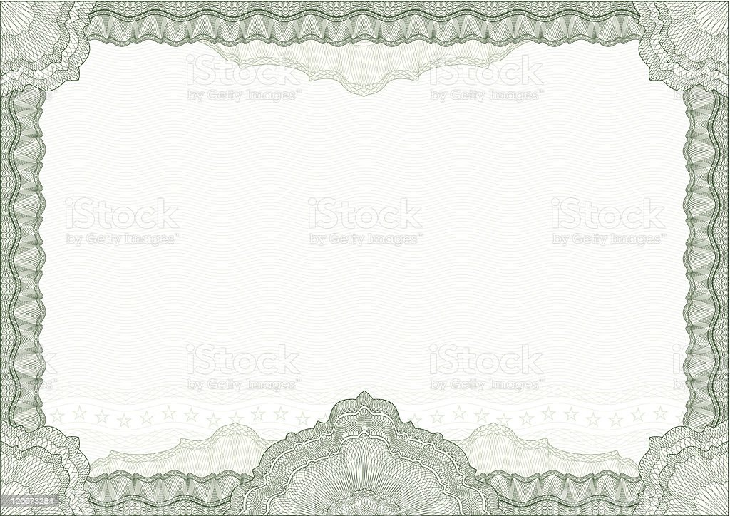 Classic guilloche border for certificate royalty-free stock vector art