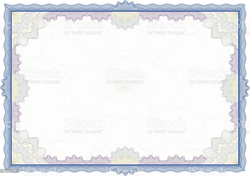 Classic guilloche border for diploma or certificate / vector royalty-free classic guilloche border for diploma or certificate vector stock vector art & more images of abstract