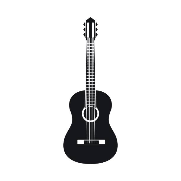 Klassische Gitarre-Symbol, einfachen Stil – Vektorgrafik