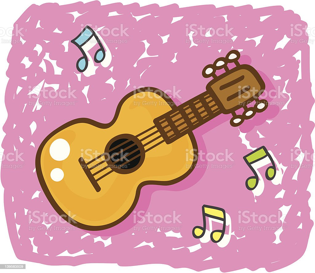 ilustraci u00f3n de m u00fasica de guitarra cl u00e1sica instrumento Digital Illustration Vector Graphics