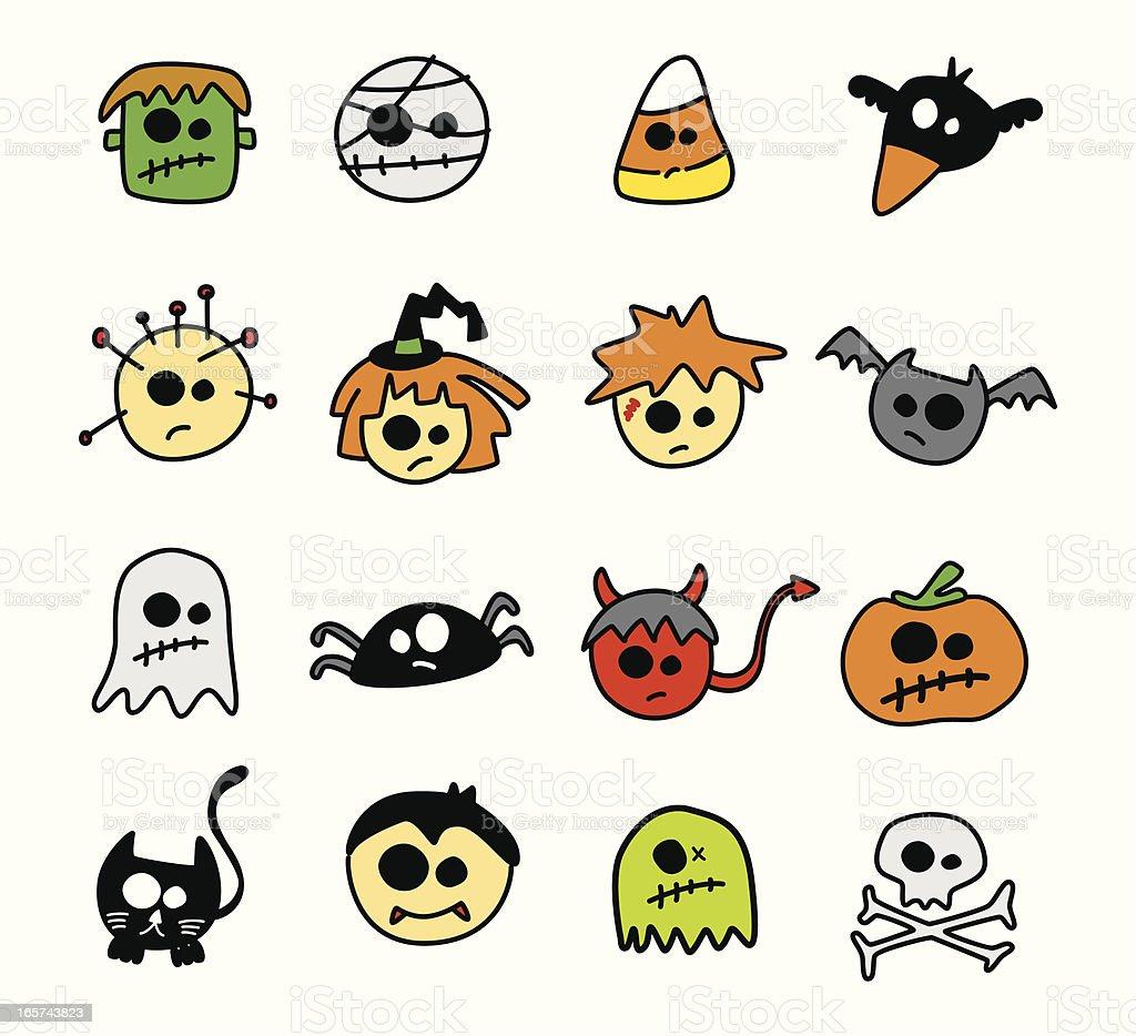 Classic Halloween Symbols stock vector art 165743823 | iStock