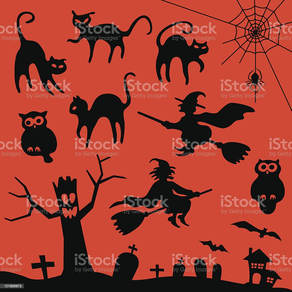 Classic Halloween royalty-free classic halloween stock vector art & more images of bat - animal