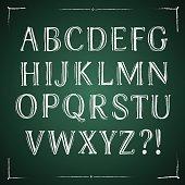 Classic hand written vector font