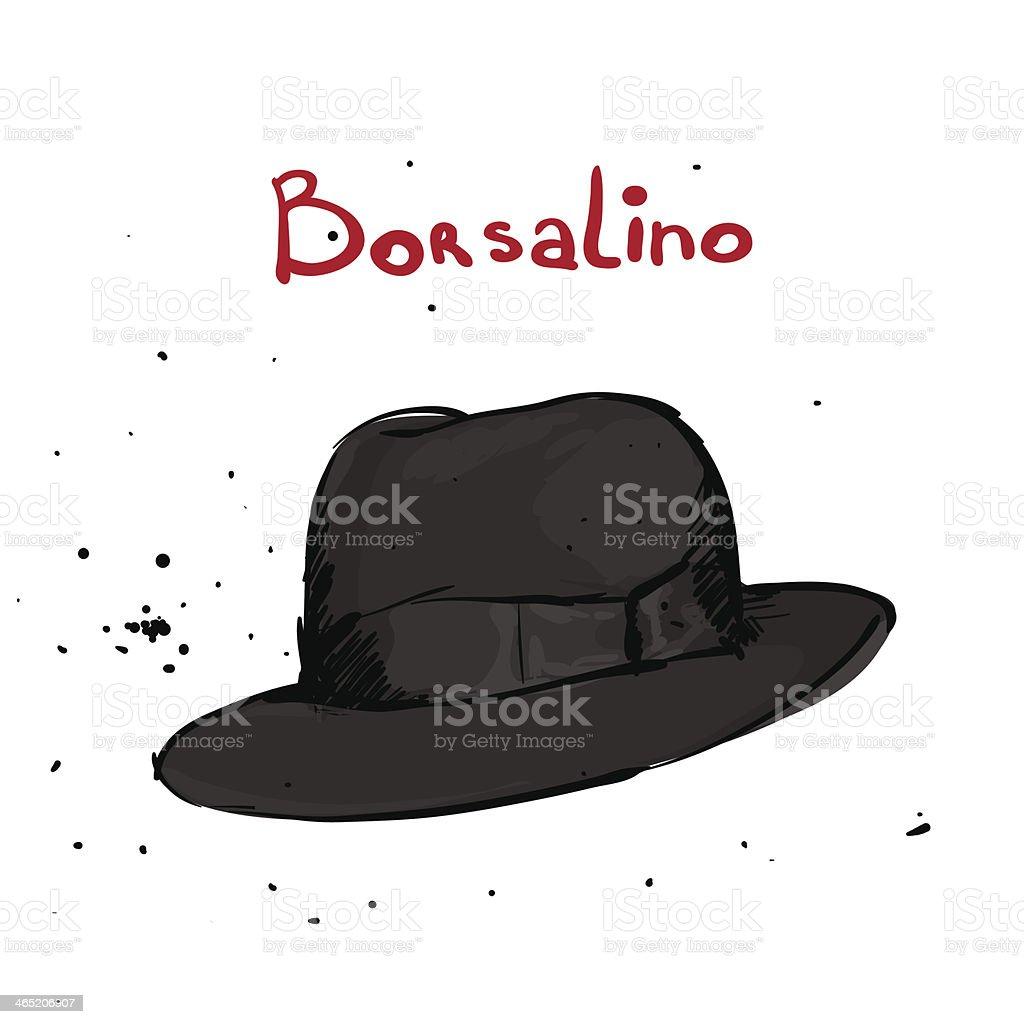 Classic hat royalty-free stock vector art