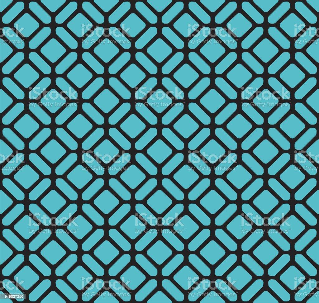 Hexágono clássico Art Déco padrão sem emenda. Geométrica textura elegante. Textura abstrata Vector retrô. - ilustração de arte em vetor