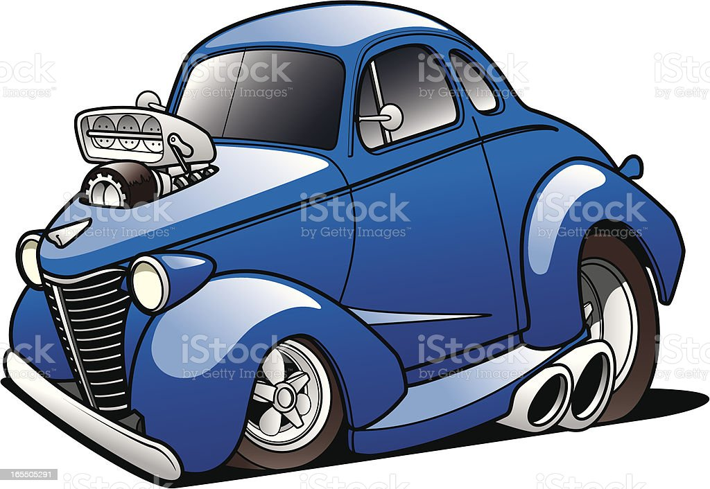 Classic Hot Rod royalty-free classic hot rod stock illustration - download image now