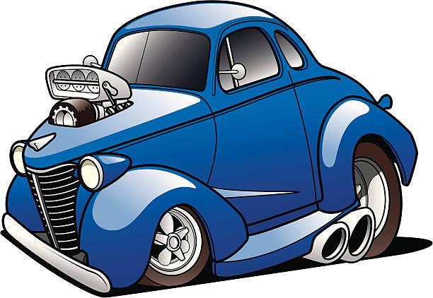 Classic Hot Rod vector art illustration
