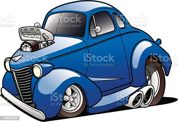 Classic Hot Rod Stock Illustration - Download Image Now