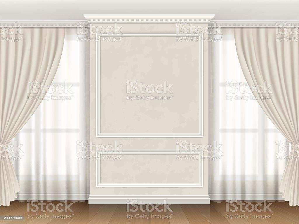 Int rieur classique avec des moulures de plafonds et de for Moulure fenetre interieur