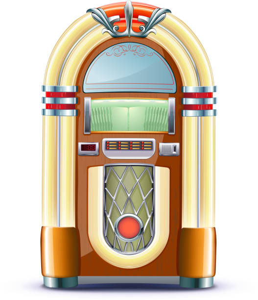 classic juke box vector art illustration