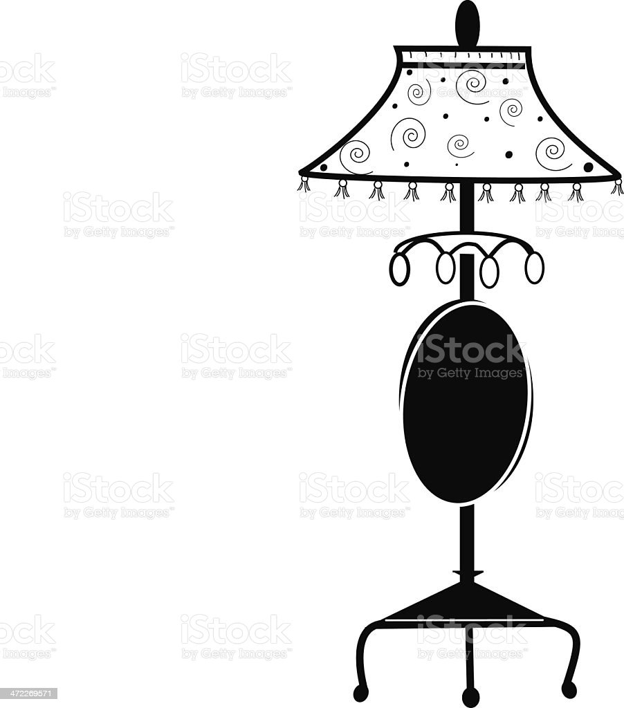A Classic Lamp in B&W royalty-free stock vector art