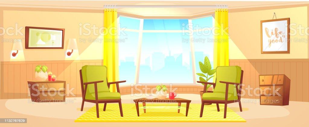Comfortabele Design Fauteuil.Klassieke Woonkamer Home Interior Design Banner Comfortabele