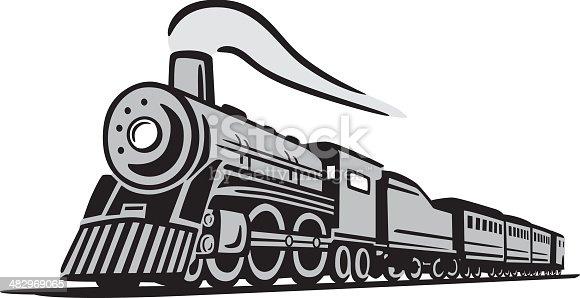 istock Classic Locomotive Train 482969065
