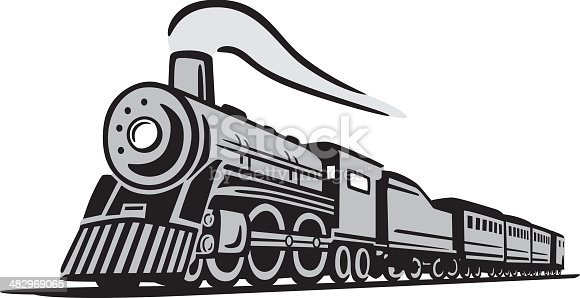 Great illustration of a classic locomotive train. Perfect for a travel or train illustration. EPS and JPEG files included. Be sure to view my other illustrations, thanks!