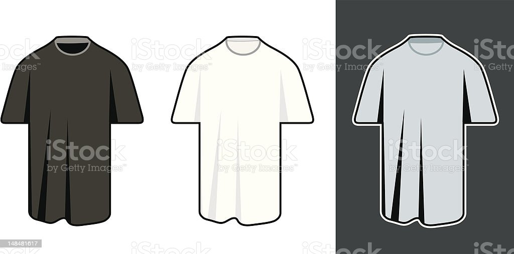 classic mans t-shirt royalty-free stock vector art