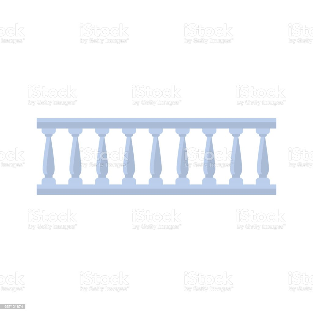 Classic Marble Balcony Fence Design Element Template vector art illustration