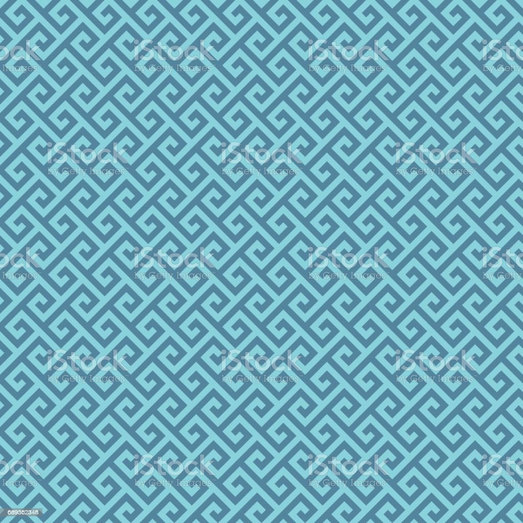 Classic meander seamless pattern. vector art illustration