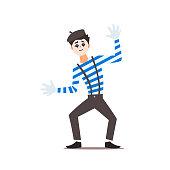 Classic Mime Vector Illustration