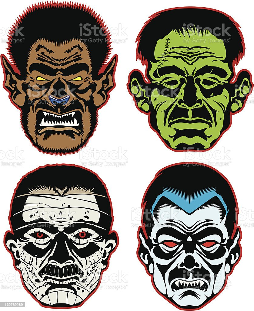 Classic Monsters royalty-free classic monsters stock vector art & more images of aggression