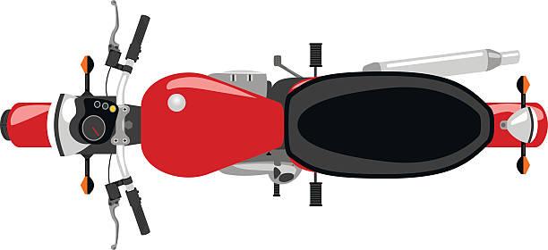 クラシックなモーターサイクル絶縁型トップビュー - オートバイ点のイラスト素材/クリップアート素材/マンガ素材/アイコン素材