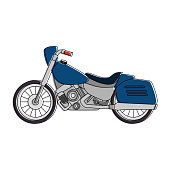 classic motorcycle vehicle icon vector illustration design