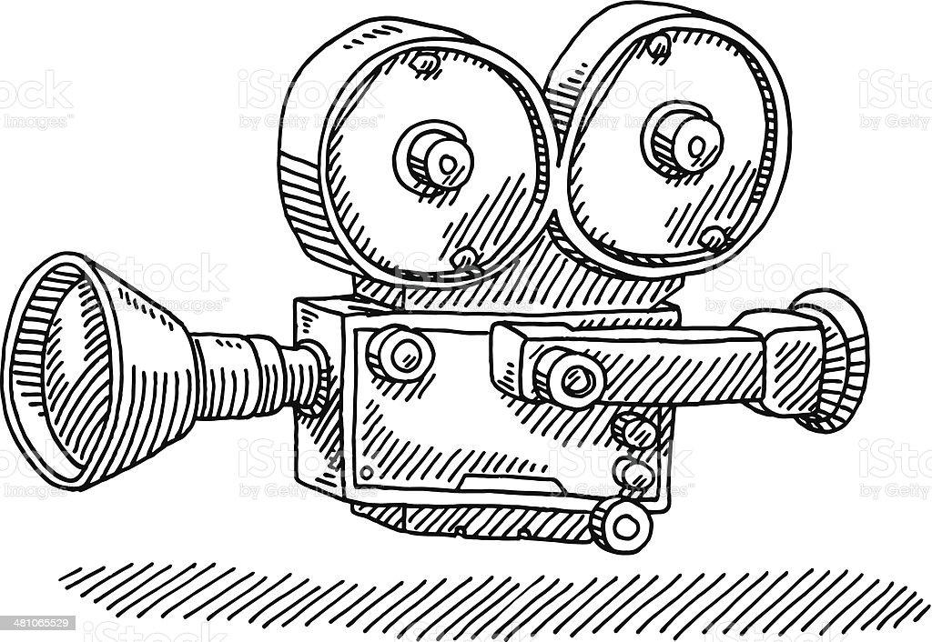 Muitas vezes Câmera De Filme Clássico Desenho - Arte vetorial de acervo e mais  XT92