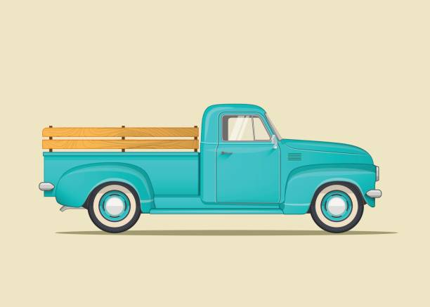 Royalty Free Old Truck Clip Art, Vector Images ...