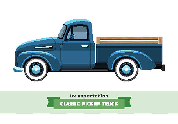 Top 60 Vintage Truck Clip Art, Vector Graphics and ...