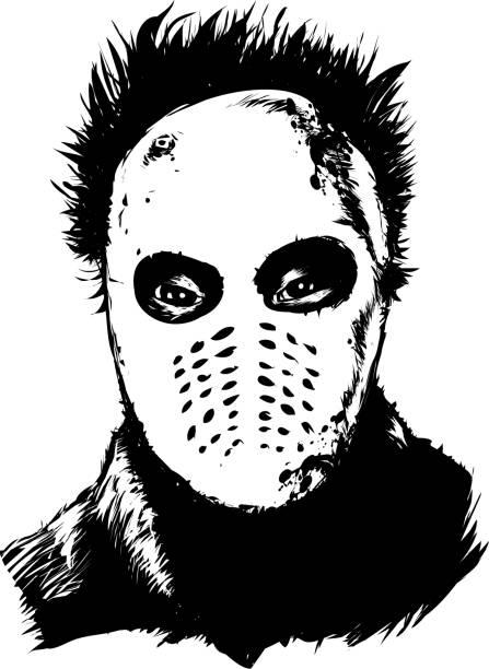Classic psychopath vector art illustration