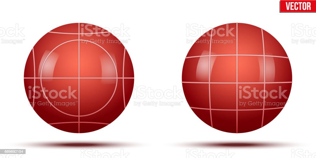 Classic Red Bocce Balls vector art illustration