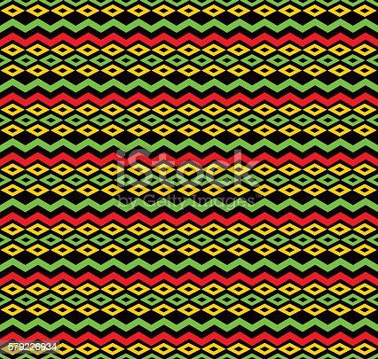 istock classic reggae color music background. Jamaica seamless pattern 579226934