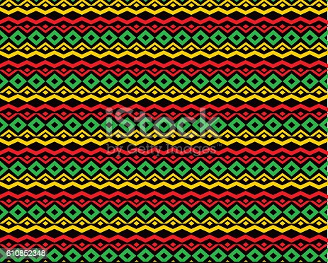 classic reggae color music background. Jamaica seamless pattern poster vector illustration